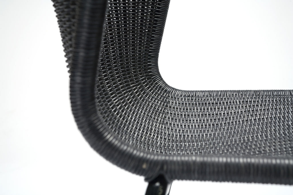 C603 chair indoor (charcoal rattan) close up