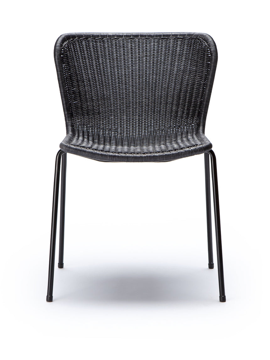 C603 chair indoor (charcoal rattan) front