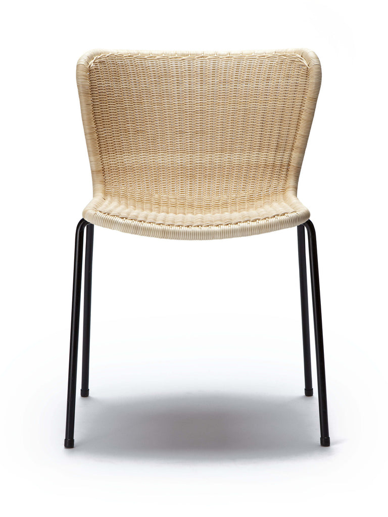 C603 chair outdoor (honey polyethylene) front