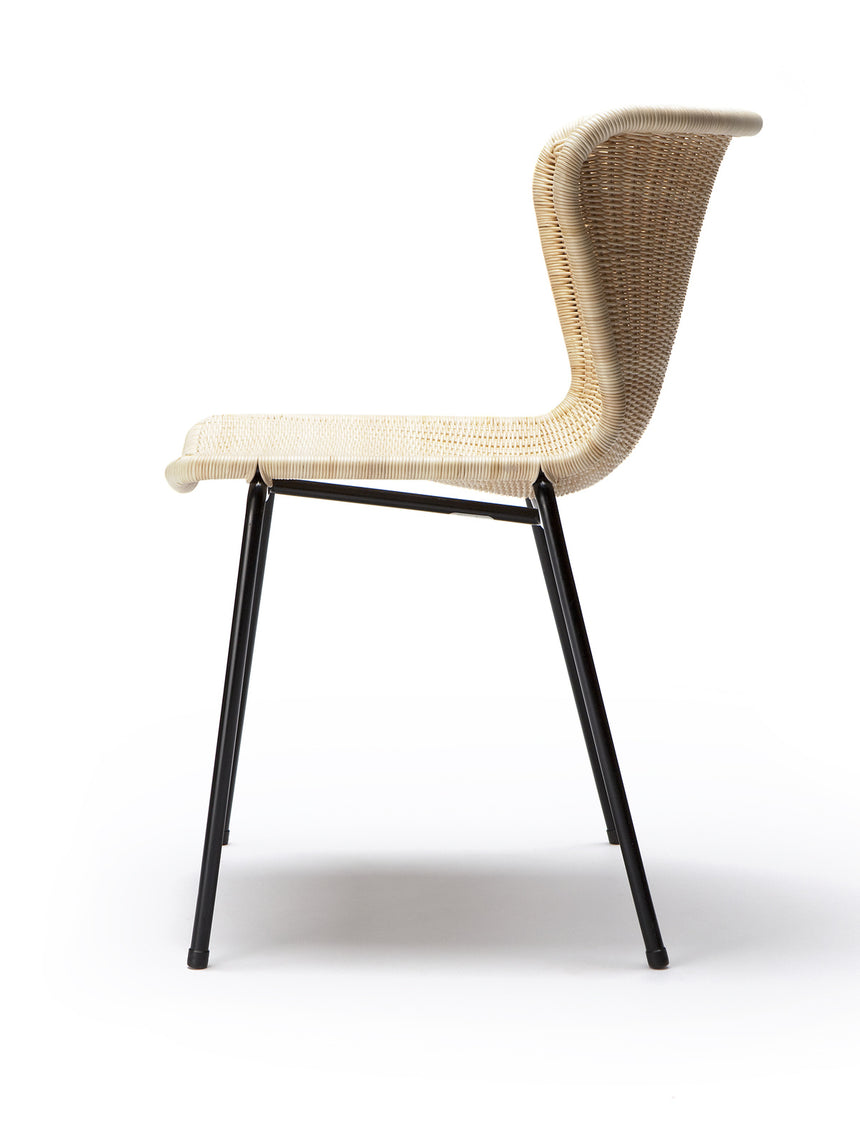 C603 chair indoor (natural rattan) side