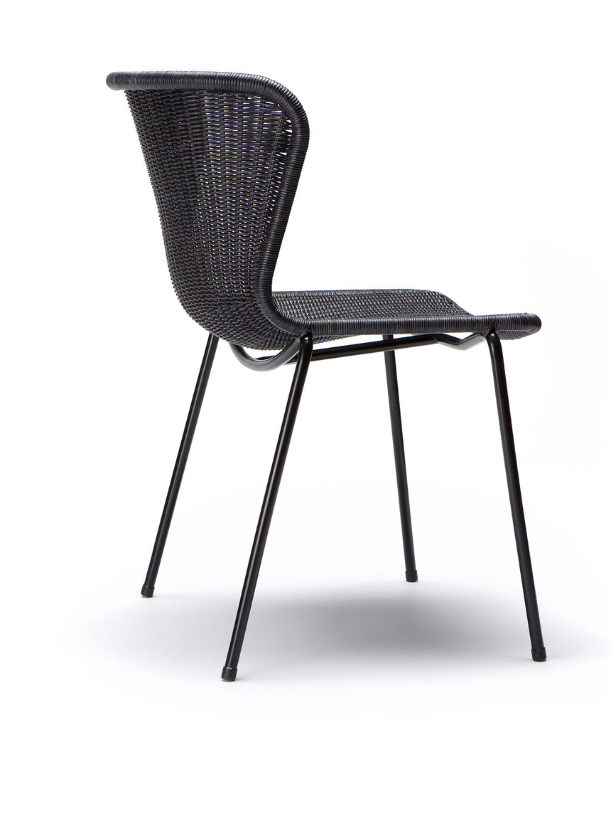 C603 chair indoor (charcoal rattan) side