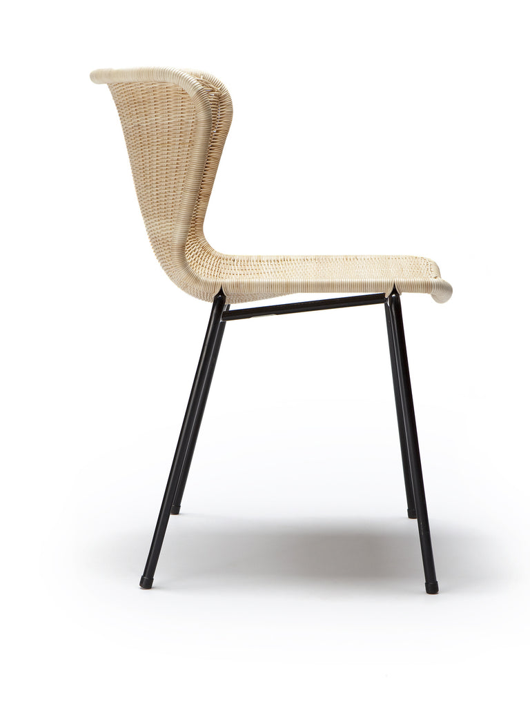 C603 chair outdoor (honey polyethylene) side