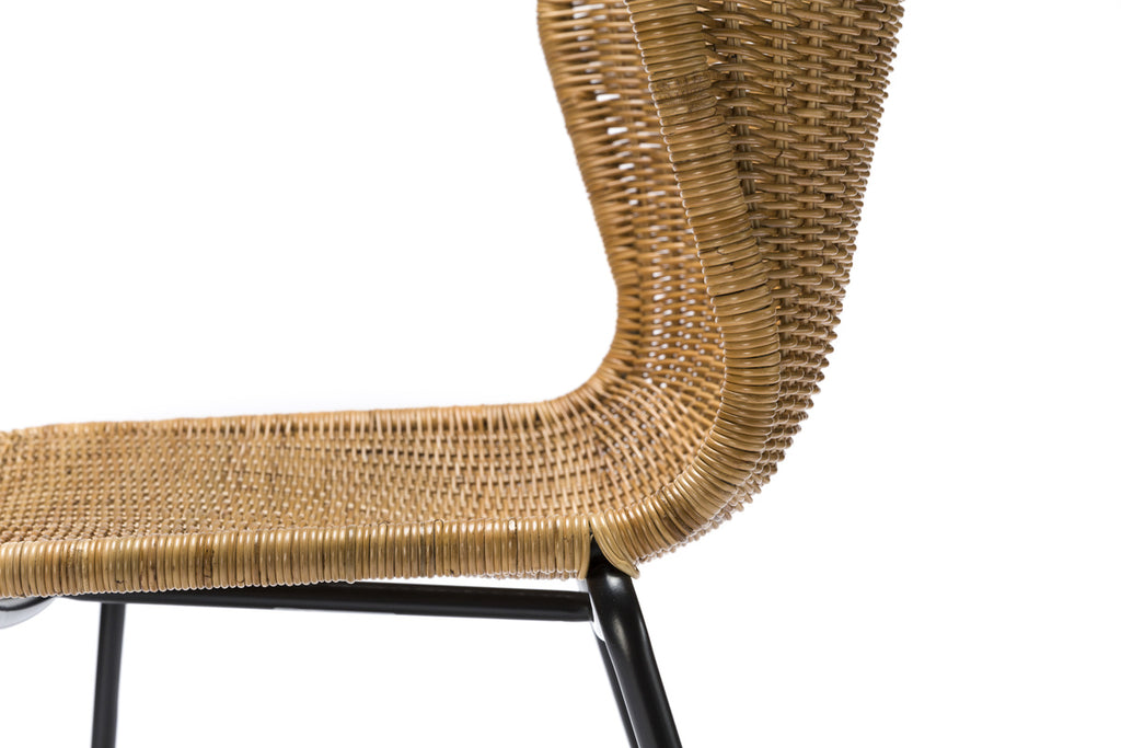 C603 chair indoor (rattan pulut) close up