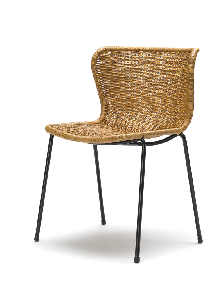 C603 chair indoor (rattan pulut) front angle