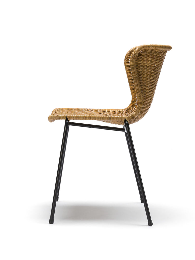 C603 chair indoor (rattan pulut) side