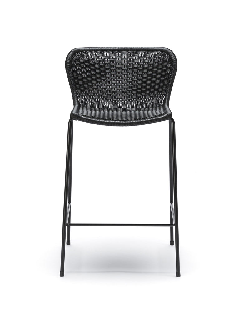 C603 stool outdoor (black) front