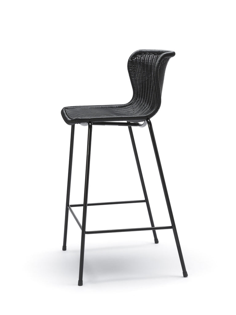 C603 stool outdoor (black) side angle