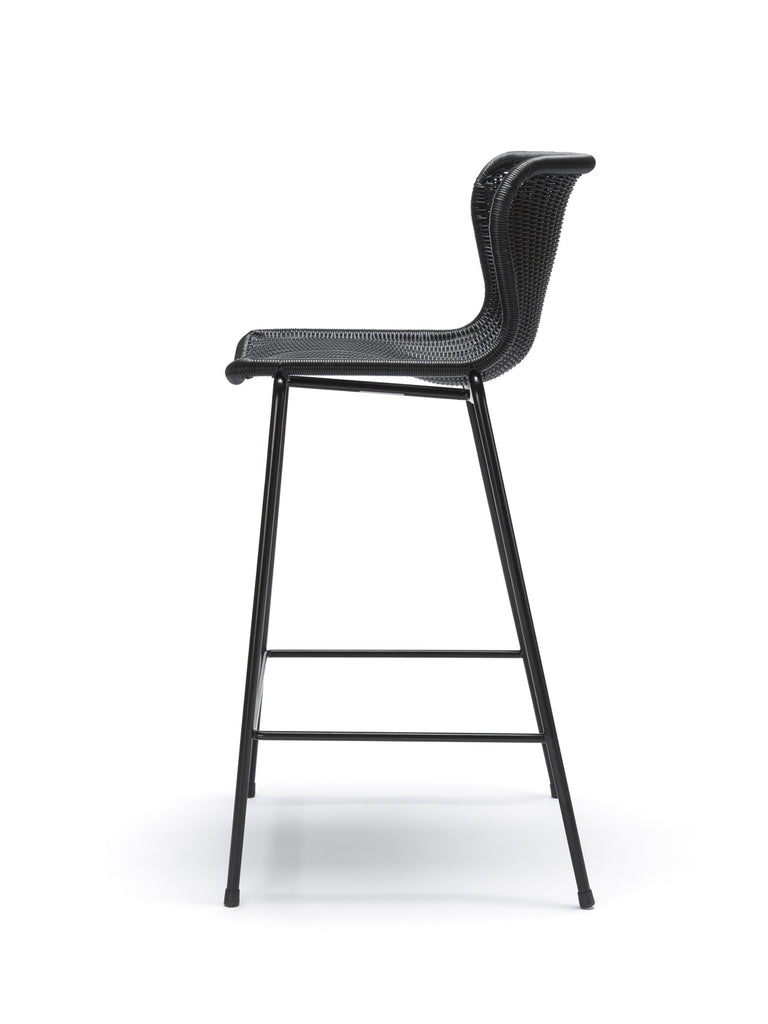 C603 stool outdoor (black) side