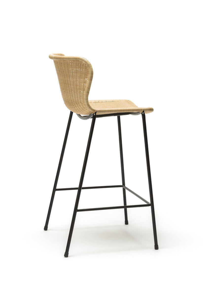 C603 stool indoor (natural rattan) back angle