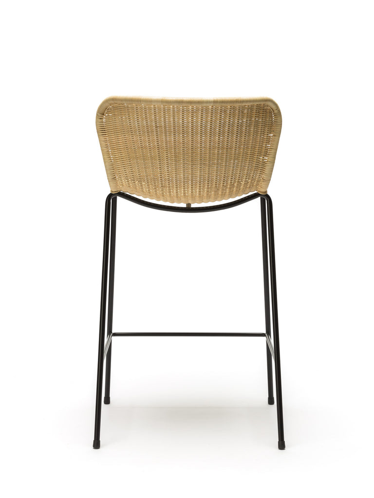C603 stool indoor (natural rattan) back