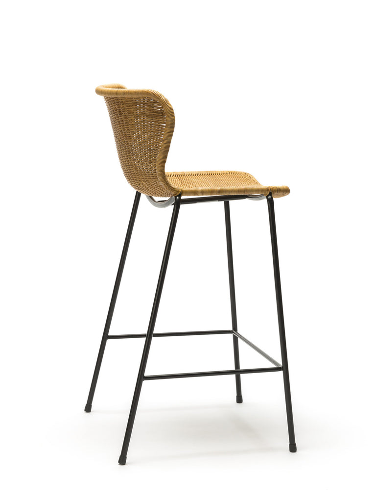 C603 stool indoor (rattan pulut) back angle