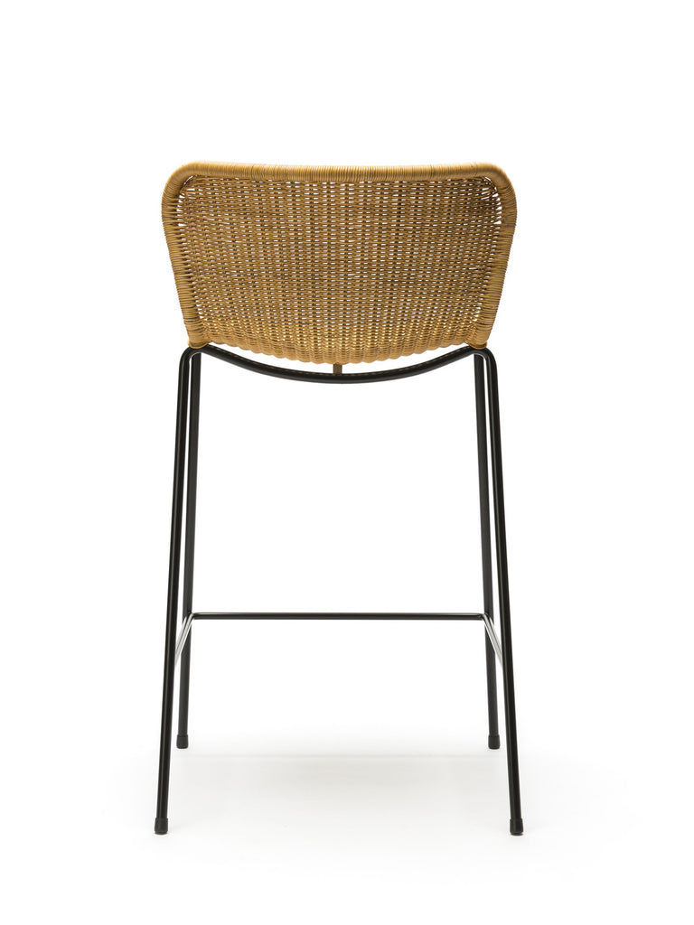 C603 stool indoor (rattan pulut) back