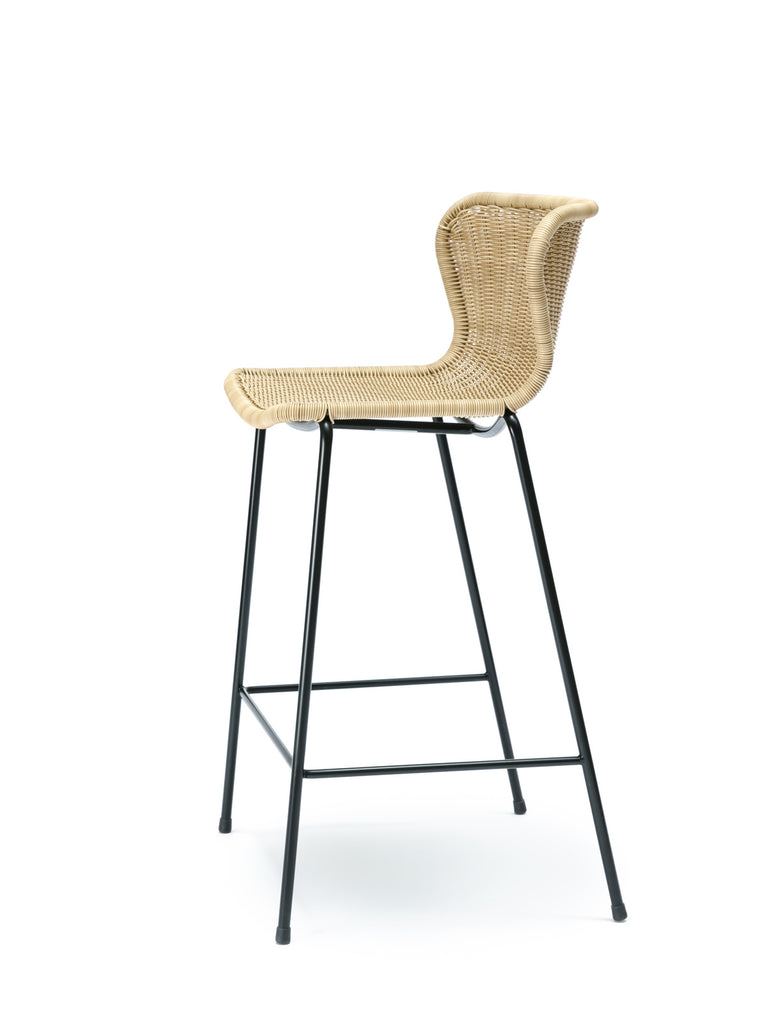 C603 stool outdoor (wheat) front angle