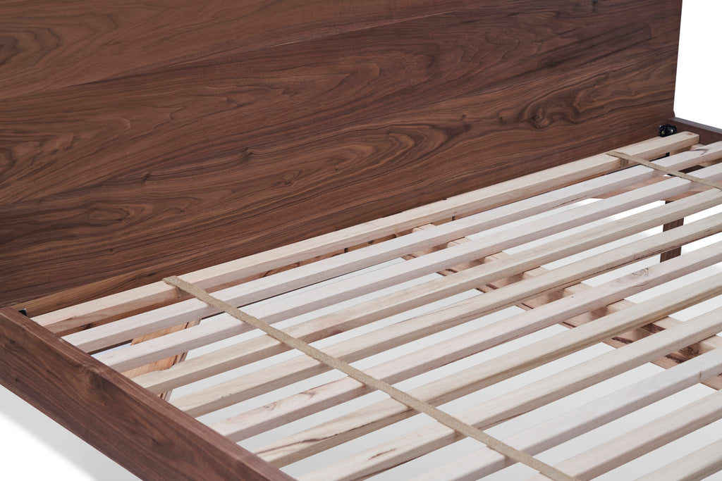 close up of divine bed slats.