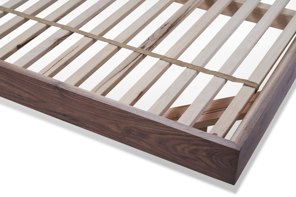 close up of divine bed slats