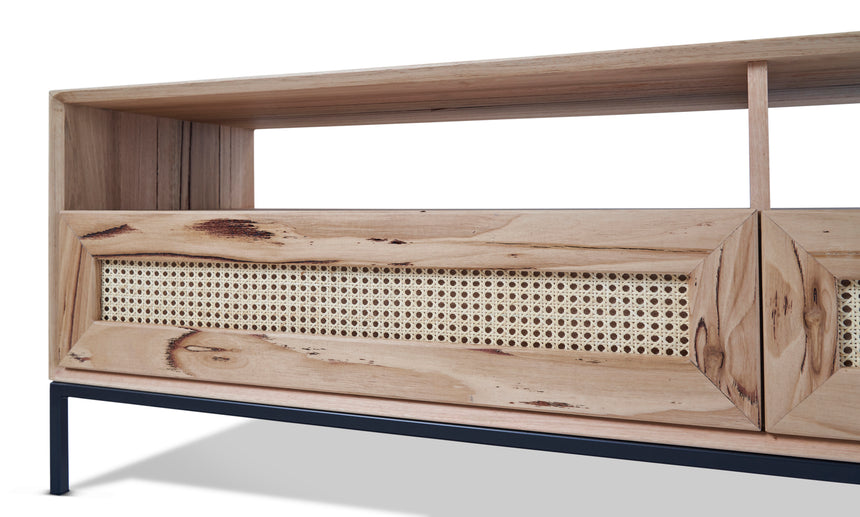 John TV Unit with Rattan Drawers