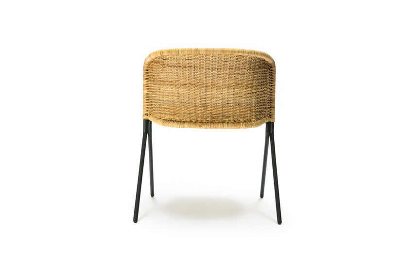 Kakī armchair (natural rattan slimit) back