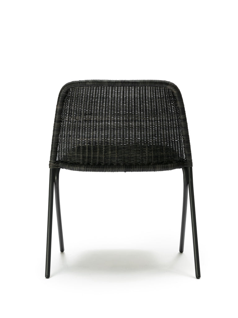 Kakī chair (graphite rattan slimit) back