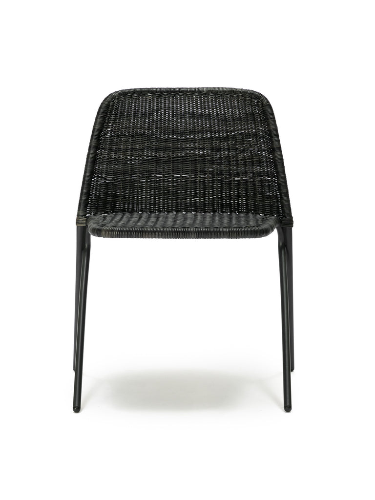 Kakī chair (graphite rattan slimit) front