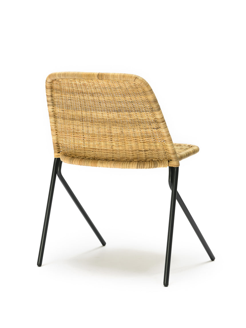 Kakī chair (natural rattan slimit) back angle