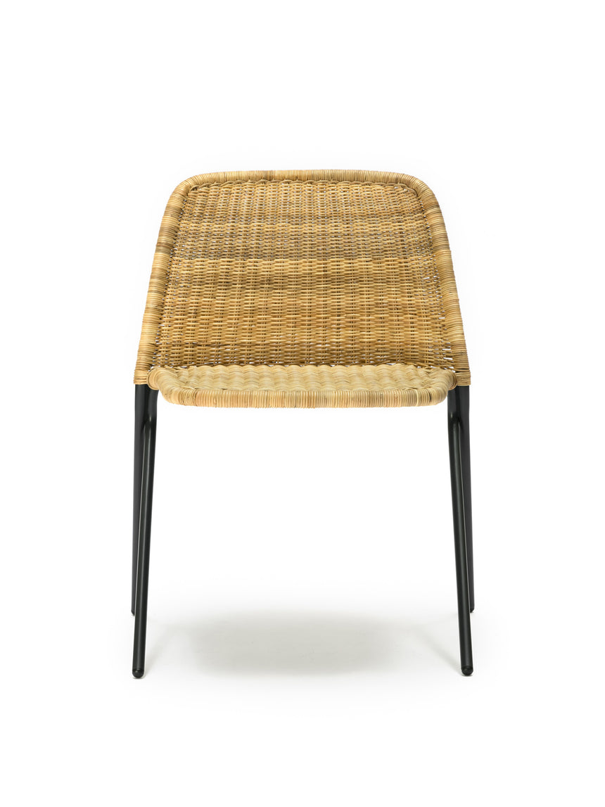 Kakī chair (natural rattan slimit) front