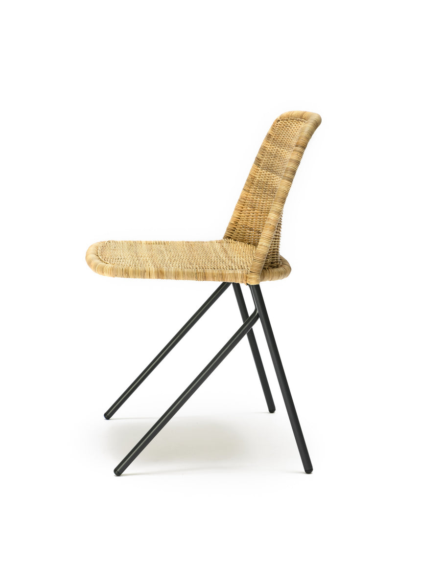 Kakī chair (natural rattan slimit) side