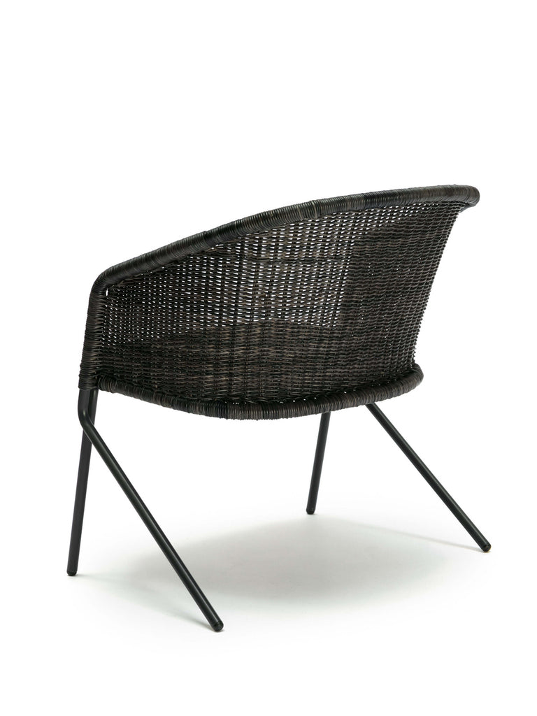 Kakī lounge chair (graphite) back angle