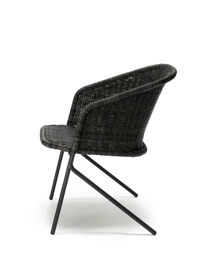 Kakī lounge chair (graphite) side