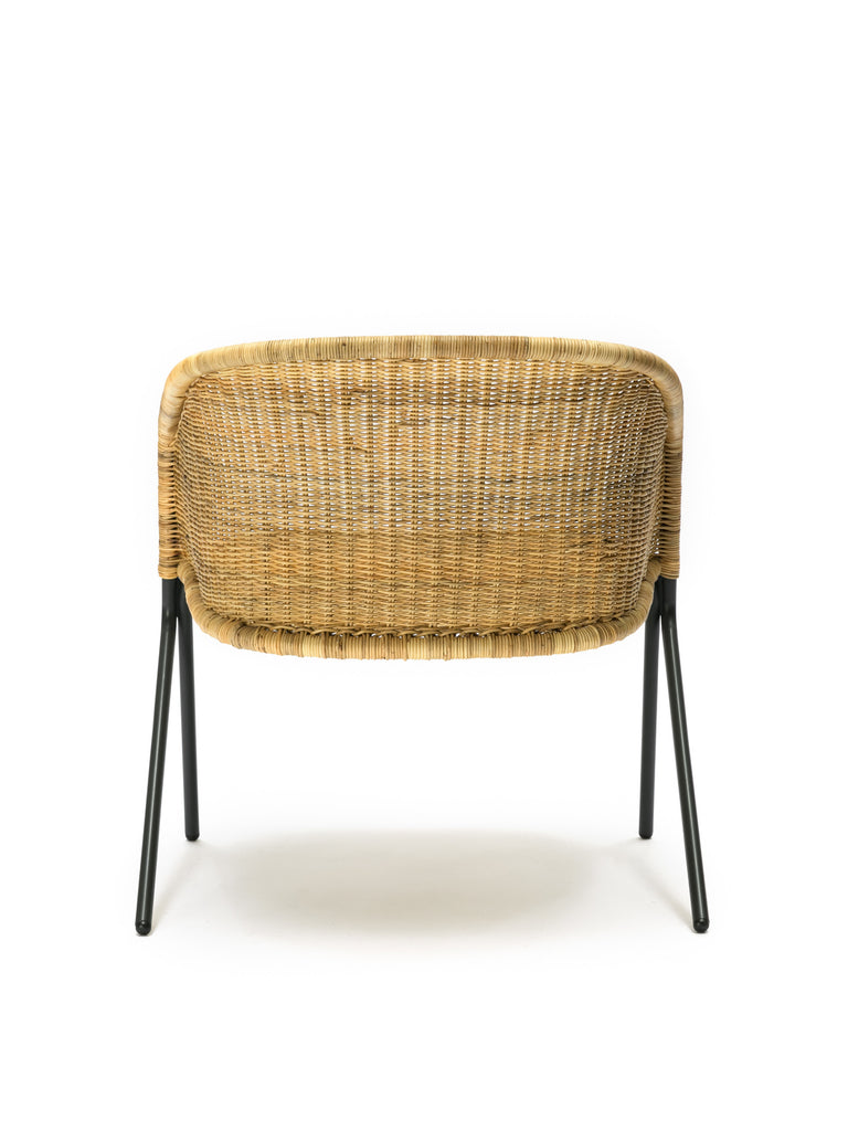 Kakī lounge chair (natural) back
