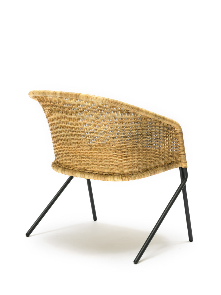 Kakī lounge chair (natural) back angle