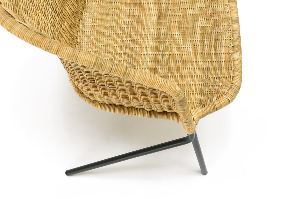 Kakī lounge chair (natural) close up