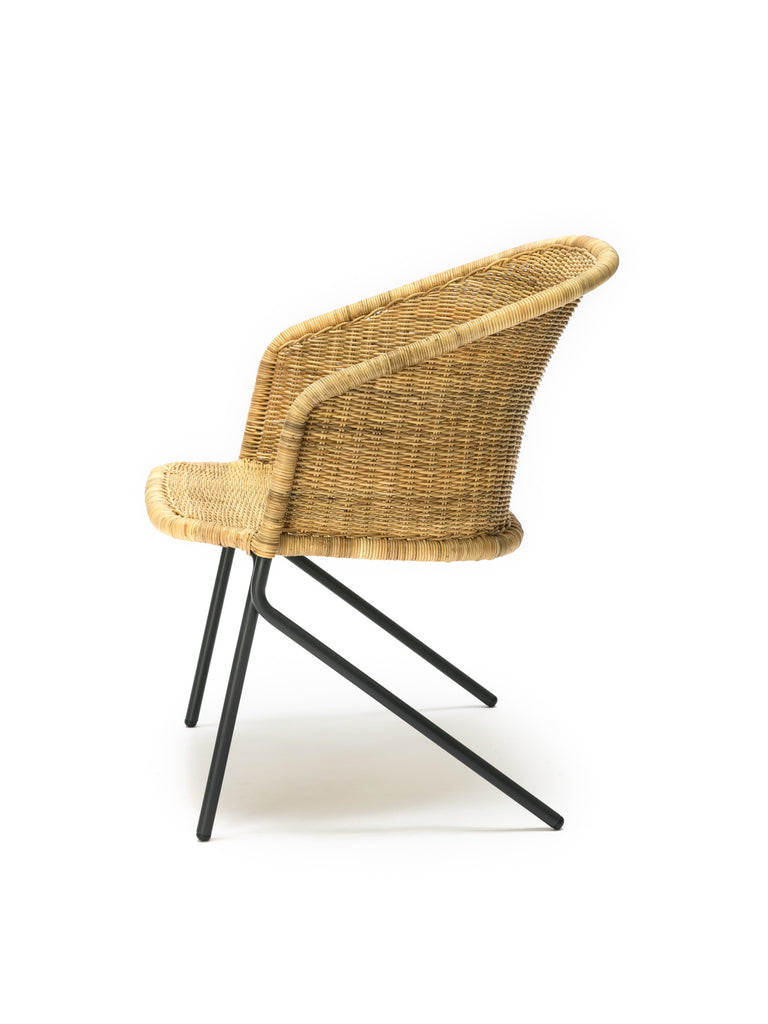 Kakī lounge chair (natural) side
