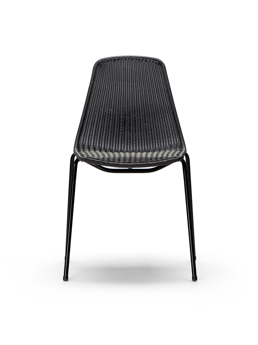 Basket chair outdoor (black polyethylene)