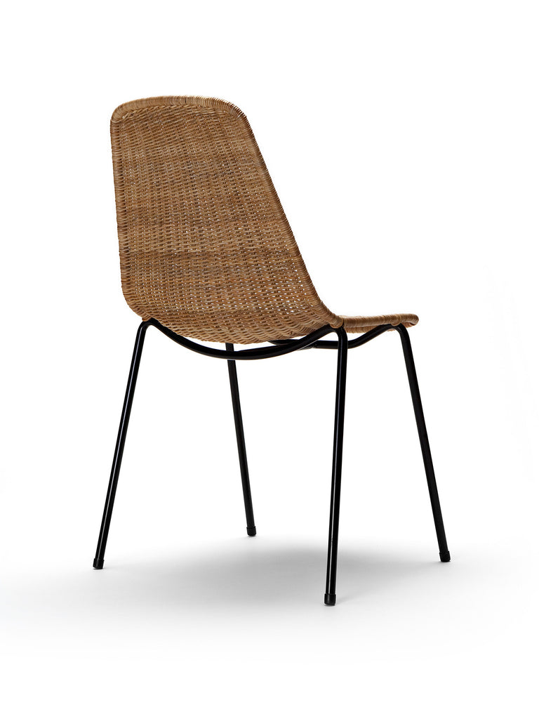 Basket chair (rattan pulut) back angle