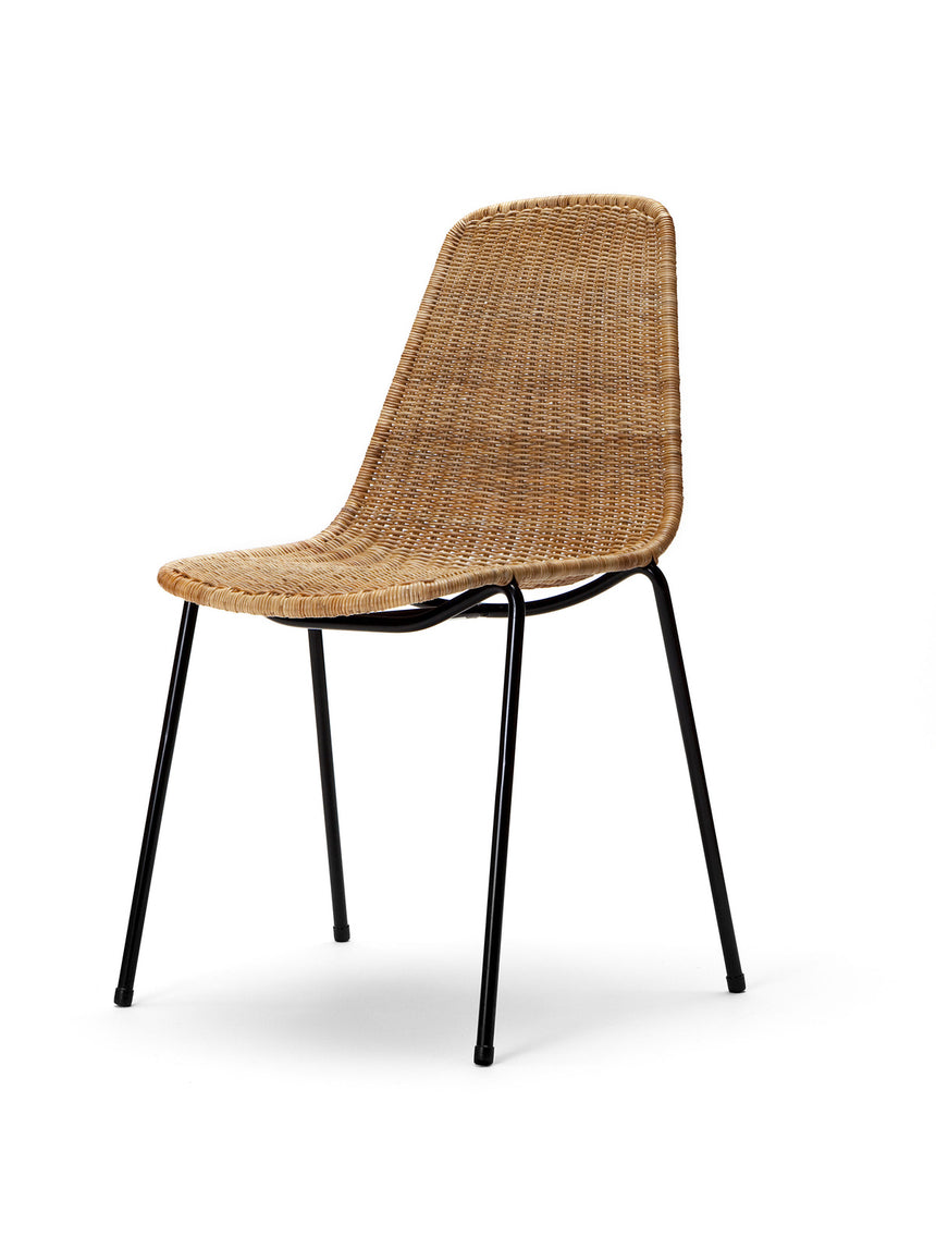 Basket chair (rattan pulut) front angle
