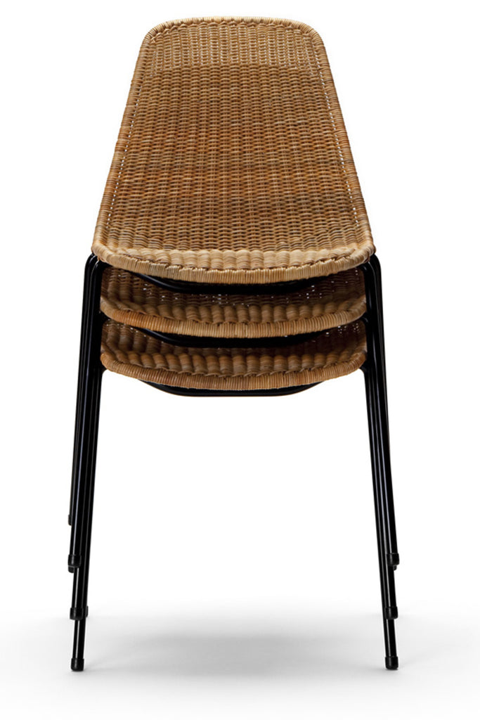 Basket chair (rattan pulut) stack