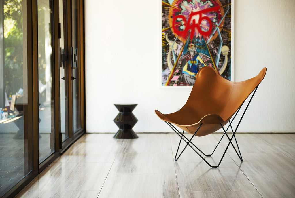 Pampa Mariposa Polo Leather Chair