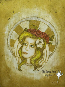 Woman With Halo - Fine Art Print
