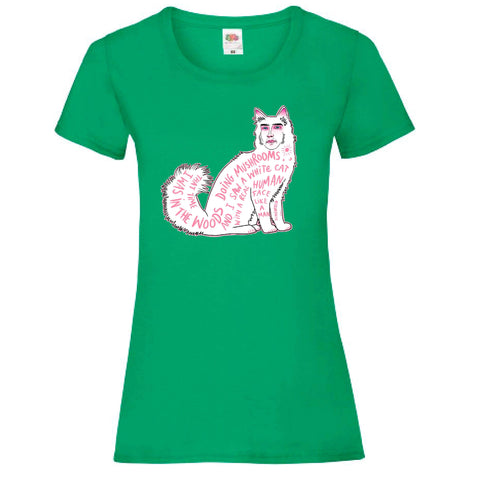 CatFace Ladyfit Tee