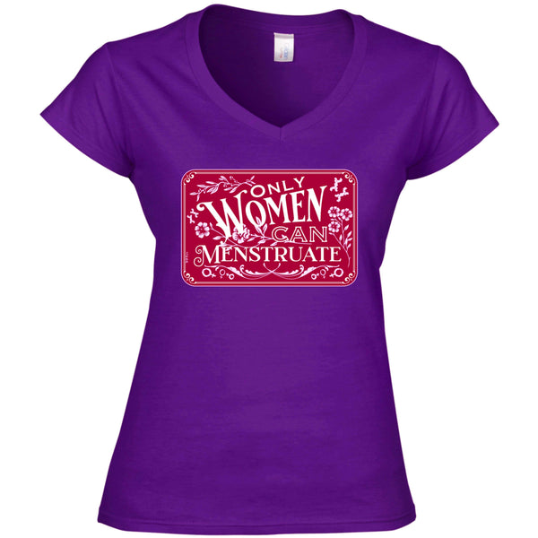 Menstruate V-Neck Tee