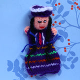 Andean Woman Finger Puppet