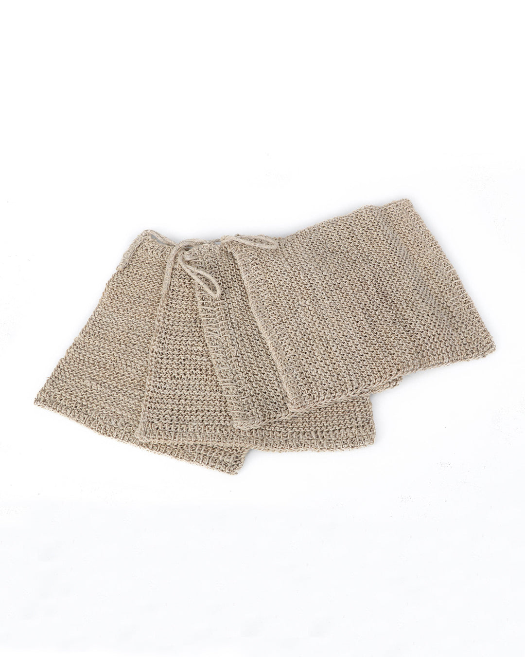 Hemp Knitted Wash Cloths, Medium - Pack of 4