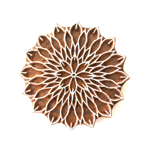 Chrysanthemum Large Wood Print Block