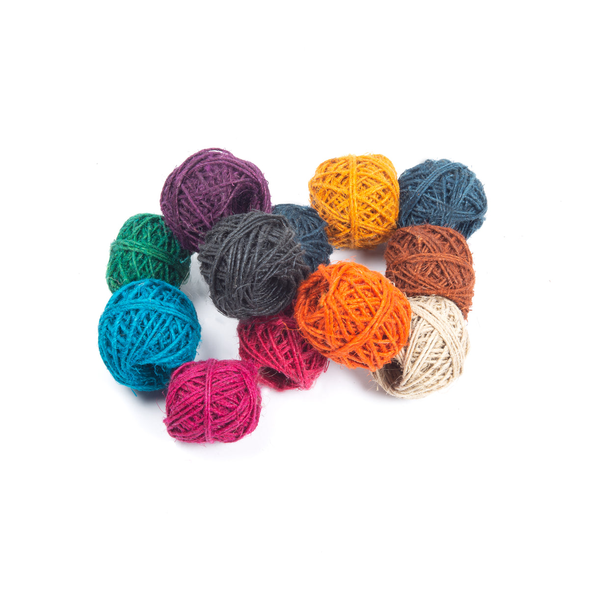 Hemp Twine Ball Crafter Pack - Pack of 12, Assorted, 10m ea.