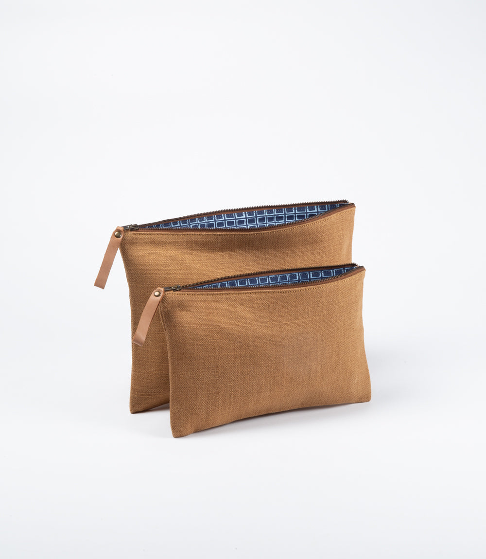 Woven Waxed Jute - Storage or Tablet / Laptop Sleeve