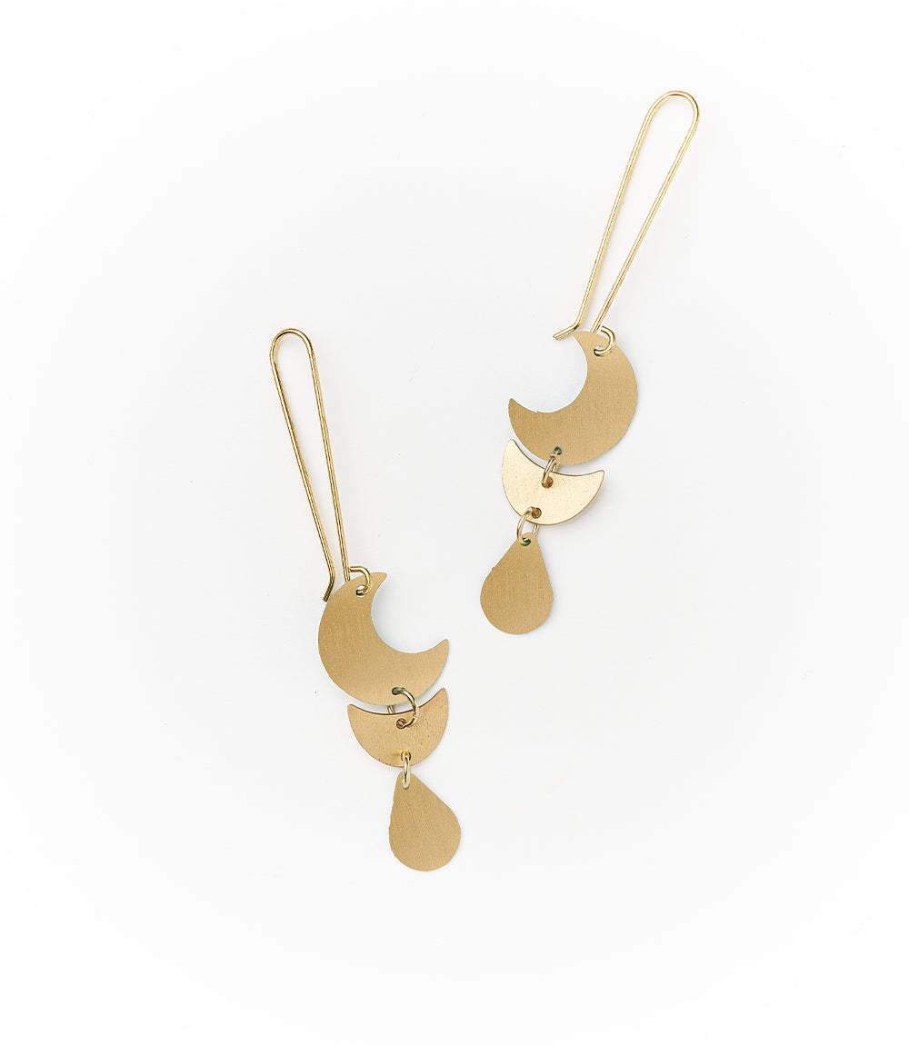 Rajani Earrings - Gold Drop