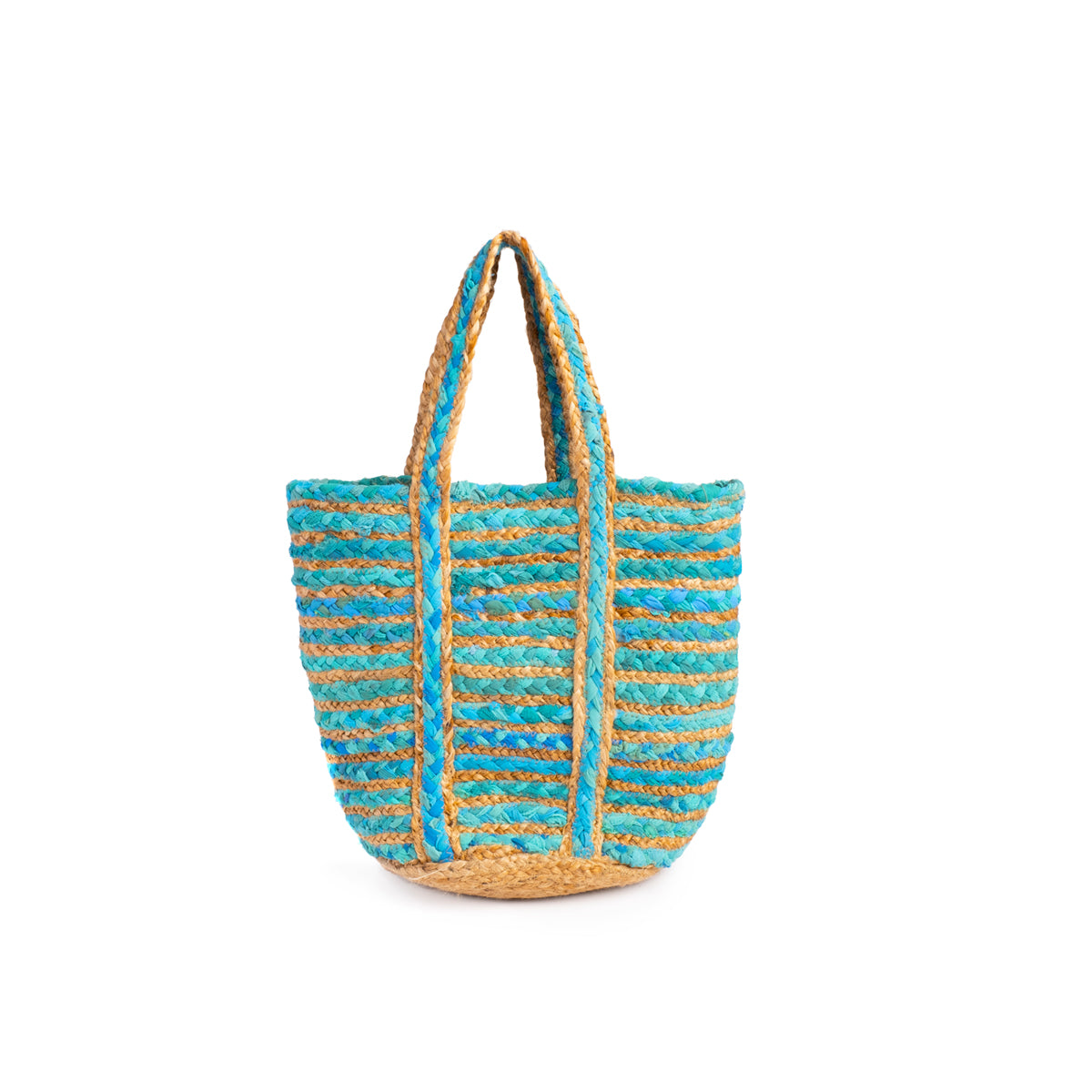 Blue Chindi Blend Basket - Medium