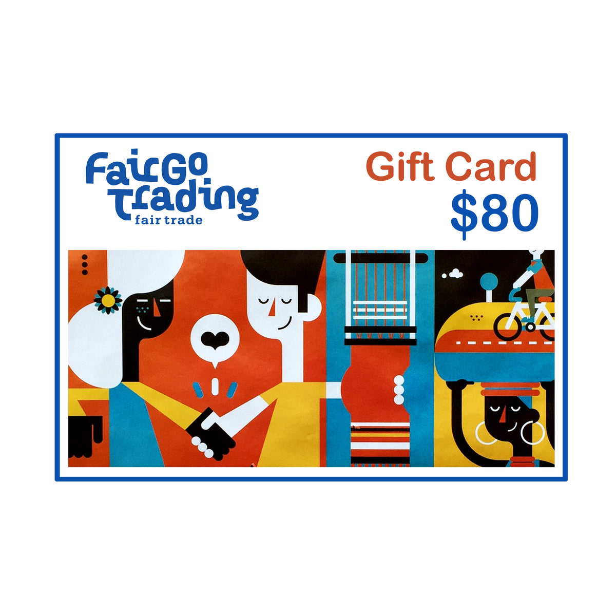 Fair Trade & Eco Gift Cards - $80
