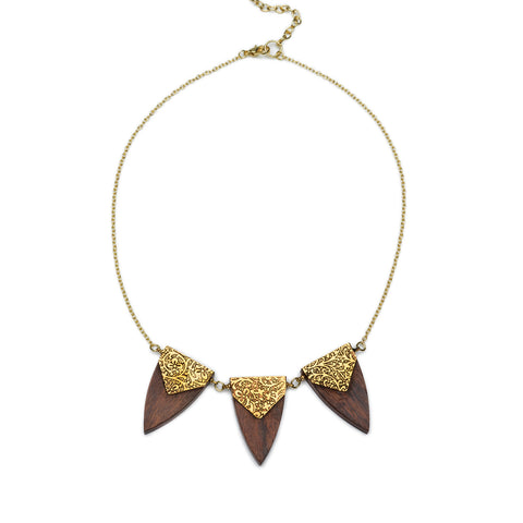 Durga Arrowhead Trio Necklace