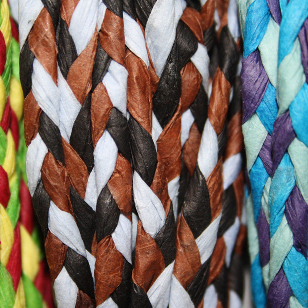Plaited Paper Twine, Pack of 5 Assorted colours